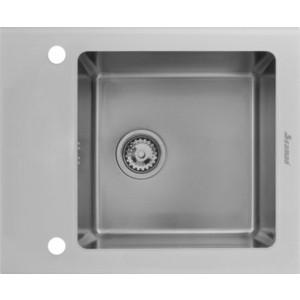 все цены на Мойка кухонная Seaman Eco Glass SMG-610W вентиль-автомат (SMG-610W.B)