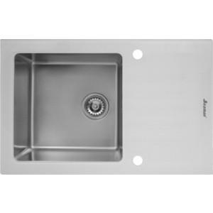 Мойка кухонная Seaman Eco Glass SMG-780W вентиль-автомат (SMG-780W.B) мойка кухонная seaman eco glass smg 730b gold pvd вентиль автомат smg 730b gold b