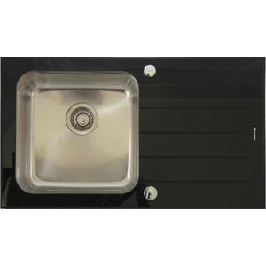 Мойка кухонная Seaman Eco Glass SMG-860CB вентиль-автомат (SMG-860CB.B) мойка кухонная seaman eco glass smg 730b gold pvd вентиль автомат smg 730b gold b