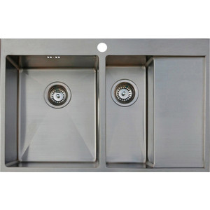 Мойка кухонная Seaman Eco Marino SMB-7851DRS вентиль-автомат (SMB-7851DRS.B) цена