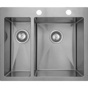 Мойка кухонная Seaman Eco Marino SMV-575L вентиль-автомат (SMV-575L.B) мойка кухонная weissgauff quadro 575 eco granit белый