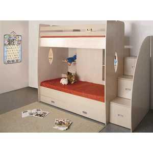 цены на Кровать 2-х ярусная ОЛМЕКО Д1 дуб линдберг в интернет-магазинах