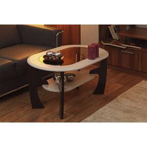 Стол журнальный ОЛМЕКО Маджеста-2 ясень шимо темный/светлый стол обеденный rinner прямая ясень шимо светлый
