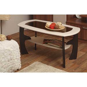 Стол журнальный ОЛМЕКО Маджеста-3 ясень шимо темный/светлый стол обеденный rinner прямая ясень шимо светлый