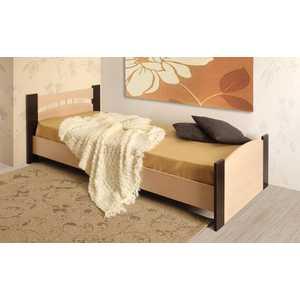 Кровать ОЛМЕКО 90х200 венге/дуб линдберг тумбочка мебель трия прикроватная токио пм 131 03 см дуб белфорт венге цаво