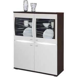Шкаф-пенал ОЛМЕКО Алабама 06.111 венге/белый дым свитшот print bar дым