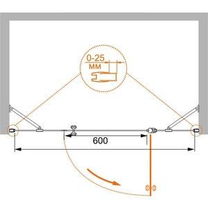 Душевая дверь Cezares TRIUMPH-B-13-40+60/50-P-Cr-L от ТЕХПОРТ