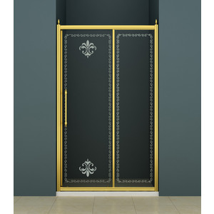 Душевая дверь Cezares RETRO-BF-1-130-PP-Br