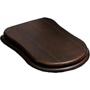 Сиденье для унитаза Cezares Laredo деревянное орех микролифт фурнитура золото (CZR-165W-S-G) фурнитура