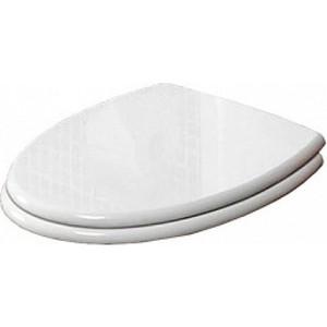 Сиденье для унитаза Cezares Primo белое микролифт фурнитура хром (CZR-166M-S-Cr) фурнитура