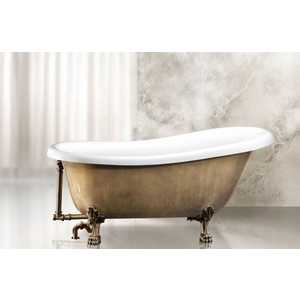 Акриловая ванна BelBagno 170x80.5x81.5 см свободностоящая исполнение бронза (Antic bronzo laccato) (BB04-BRN/BIA) цены онлайн