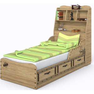 Кровать СКАНД-МЕБЕЛЬ Корсар 3 с полкой в изголовье стеллаж сканд мебель корсар 1