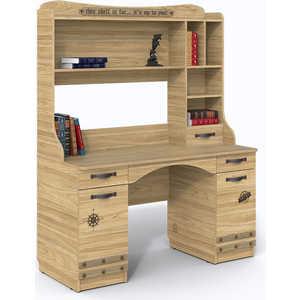СКАНД-МЕБЕЛЬ Стол с надстройкой Корсар мебель салона маникюрный стол роза 42 цвета