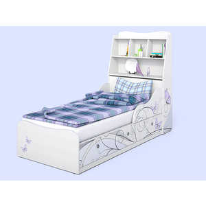 Кровать СКАНД-МЕБЕЛЬ Леди 3 с полкой в изголовье кровать сканд мебель кембридж 2