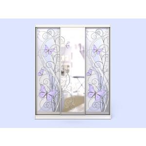 Шкаф-купе СКАНД-МЕБЕЛЬ Леди 3-2 с зеркалом и встроенным комодом