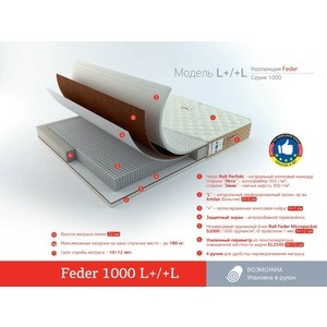 где купить Матрас Roll Matratze Feder 1000 L+/+L 200x200 дешево