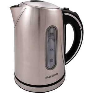 Чайник электрический StarWind SKS4210 серебристый матовый блендер starwind stb7586 черный серебристый