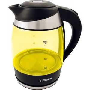 Чайник электрический StarWind SKG2215 желтый/черный весы starwind ssp5452 черный ssp5452