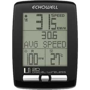 Велокомпьютер Echowell Ui20 черный беспроводной 27 функций (G000010603)