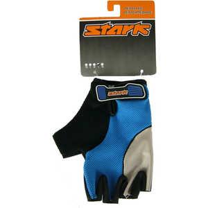 Велоперчатки Stark NC-618 открытые пальцы гелевые вставки доп швы серо-синие р-р S (G000003147)