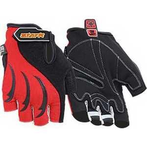 Велоперчатки Stark NC-802 открытые пальцы черно-красные р-р М (VZ204056)