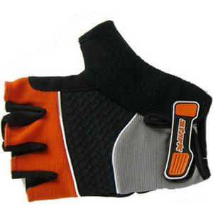 Велоперчатки Stark NC-814 открытые пальцы гелевые вставки доп швы черно-оранжевые р-р L (VZ204028)