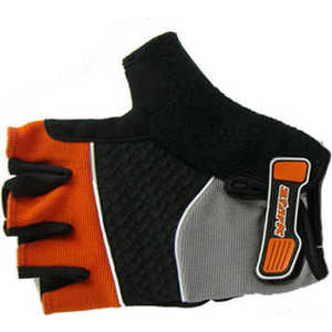 Велоперчатки Stark NC-814 открытые пальцы гелевые вставки доп швы черно-оранжевые р-р XXL (VZ204097)