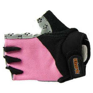 Велоперчатки Stark NC-887 женские открытые пальцы розово-черные р-р L (H000003782)