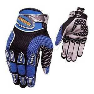 Велоперчатки Stark NC-923C закрытые пальцы серо-синие черныйвставками р-р M (VZ204062)