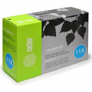 Картридж Cactus Q6511X (CS-Q6511X) cactus cs q6511x black тонер картридж для hp lj 2410 2420 2420dn 2430