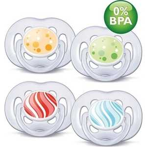 Набор пустышек Philips Avent силикон Freelow Дизайн 6-18мес BPA-Free SCF180/24 86400 avent philips freeflow 6 18 мес уп 2шт bpa free avent авент