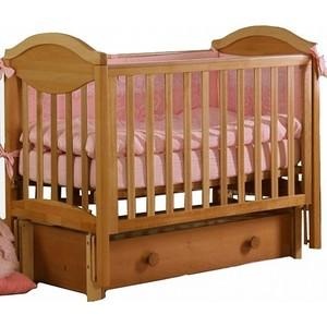 Кроватка Кубаньлесстрой Камелия маятник продольного качания ящик светлый орех АБ 23.3 кровать детская антел каролина 6 маятник продольного качания закрытый ящик орех каролина 6 орех