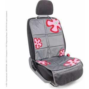 Комплект защитных чехлов Смешарики под автокресло и спинку переднего сиденья серый/красный SM/COV-020 GY/RD