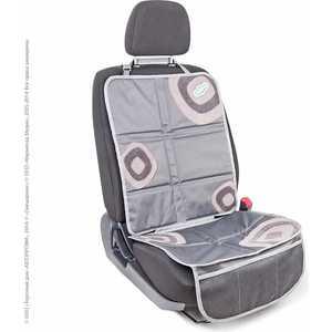 Комплект защитных чехлов Смешарики под автокресло и спинку переднего сиденья серый/серый SM/COV-020 GY/GY