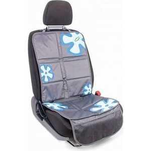 Комплект защитных чехлов Смешарики под автокресло и спинку переднего сиденья серый/синий SM/COV-020 GY/BL