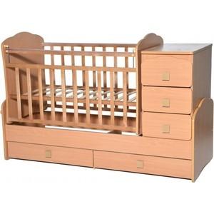 Кровать-трансформер Антел Ульяна-1 маятник фигурные спинки бук кровать трансформер антел ульяна 4 маятник комод 2 ящика бук
