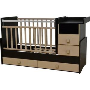 Кровать-трансформер Антел Ульяна-4 маятник комод 2 ящика венге/клён кровать трансформер антел ульяна 4 маятник комод 2 ящика бук