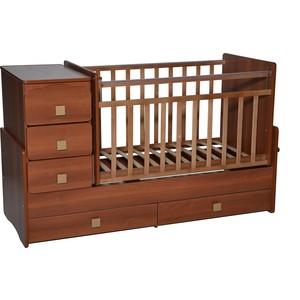Кровать-трансформер Антел Ульяна-4 маятник комод 2 ящика орех кровать трансформер антел ульяна 4 маятник комод 2 ящика бук