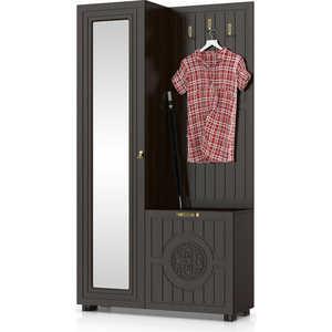 Шкаф комбинированный Compass МБ-10 венге темный орех шоколадный шкаф для офиса bonawentura 20шбз 26 венге темный