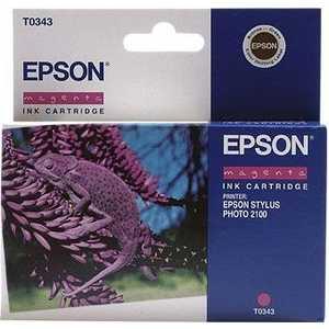 Картридж Epson C13T03434010 картридж original epson [t034340] для epson stylus photo 2100 magenta