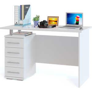 Стол компьютерный СОКОЛ КСТ-106.1 белый компьютерный стол сокол кст 103 испанский орех