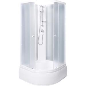 цены Душевая кабина Aqualux OPTIMA 90х90 задние стенки белые (AQ-309GM-Wh)