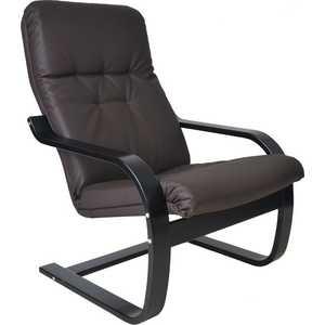 Кресло Мебель Импэкс Сайма экокожа (018.001) венге/шоколад