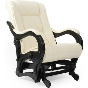 Кресло-качалка Мебель Импэкс МИ Модель 78 каркас венге с лозой, обивка Dundi 112 кресло качалка мебель импэкс ми модель 5 каркас венге с лозой обивка malta 15а