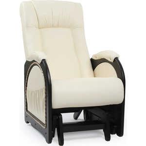 Кресло-качалка Мебель Импэкс МИ Модель 48 каркас венге с лозой, обивка Dundi 112 кресло мебель импэкс ми модель 11 венге каркас венге обивка dundi 112