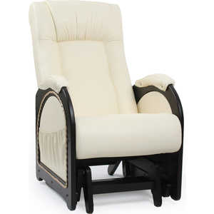 Кресло-качалка Мебель Импэкс МИ Модель 48 каркас венге с лозой, обивка Dundi 112 кресло качалка мебель импэкс ми модель 5 каркас венге с лозой обивка malta 15а