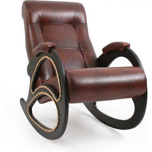 Кресло-качалка Мебель Импэкс Модель 4 с лозой Венге Антик крокодил