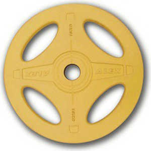 Диск олимпийский Body Solid обрезиненный 15 кг желтый (P-RO-15K-DSA)