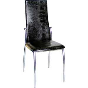 Стул МС мебель PU-7312 N черный крокодил, 4 шт
