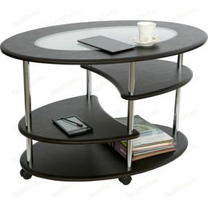 Стол журнальный Калифорния мебель Эллипс со стеклом СЖС-01 венге стол журнальный калифорния мебель бруклин венге